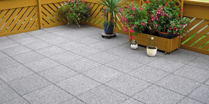 Rubber granulate mats
