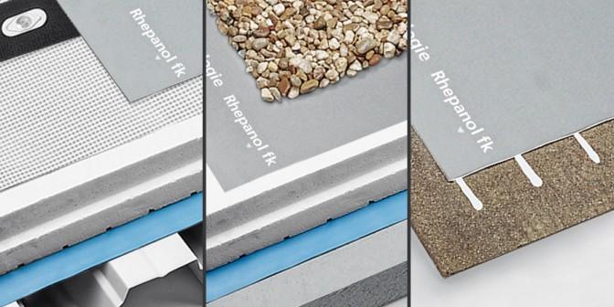 Flat roof Rhepanol in three types of laying